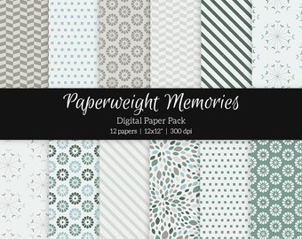 """Digital patterned paper - Finding Your Way - digital scrapbooking - patterned paper - 12x12"""" 300dpi - Commercial Use"""