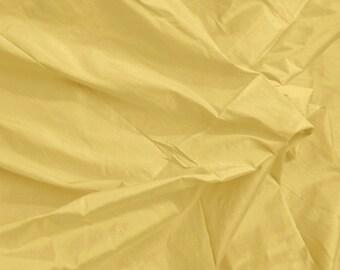 indian silk dupioni fabric - 100% pure silk in light gold - 1 yard sld037