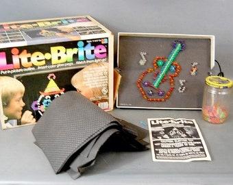 IOB Vintage Milton Bradley Lite Brite Set