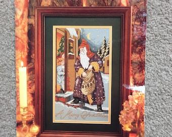 Santa's Visit Cross Stitch Pattern, Counted Cross Stitch Pattern Chrart by Cathy Livingston