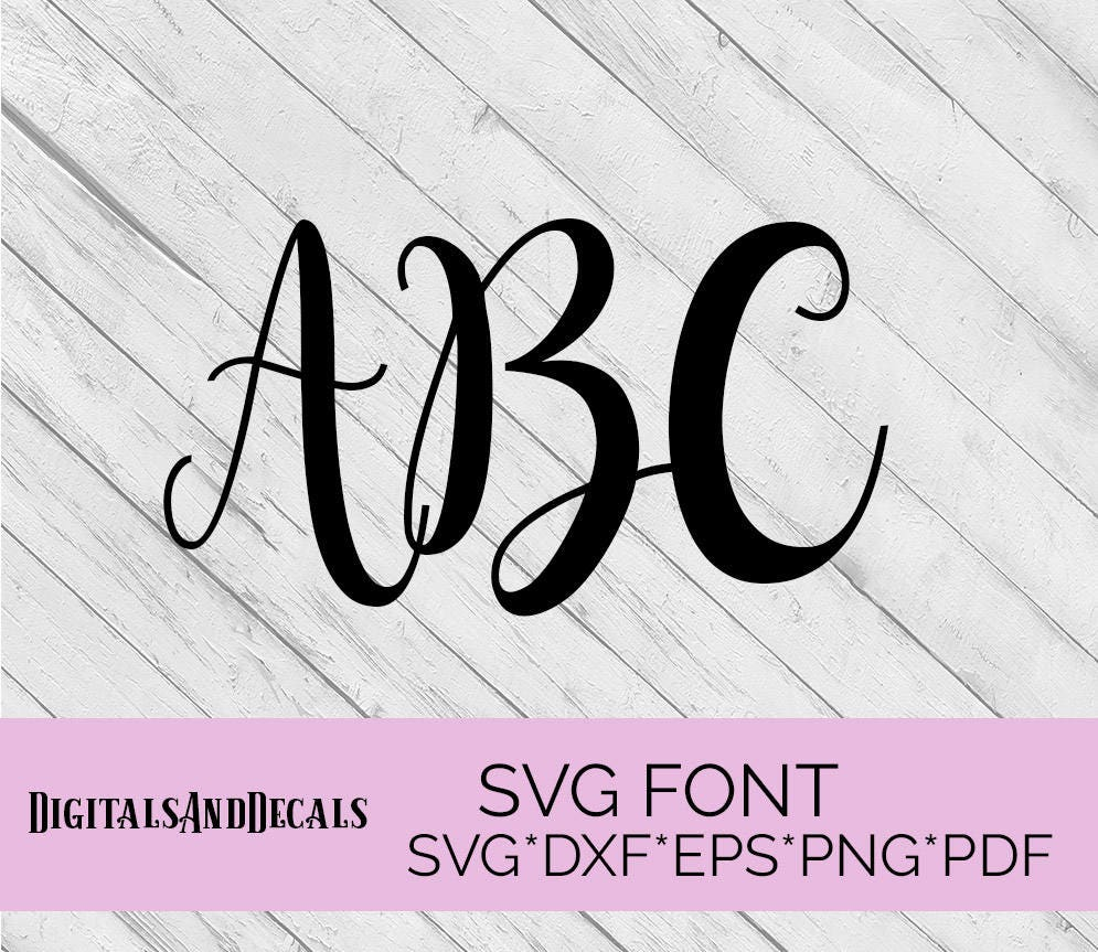 Svg Fonts Hand Lettered Svg Wedding Font Svg Fonts For