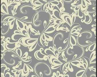 Art Gallery Fabrics Poetica by Pat Bravo Rhythmic Gray