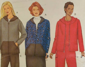 Size 16w-18w-20w Womens Sewing Pattern Zippered Hoodie Jacket Sweater Pull on Maxi Skirt Pants Stretch Knits