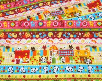 Animal fabric colorful print Fat Quarter nc12