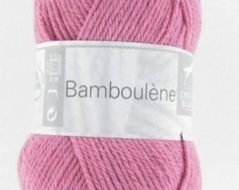 "Ball of yarn ""BAMBOULENE"" old white horse pink 056"