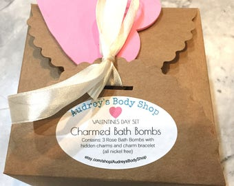 Charmed Bath Bombs - Hearts Set