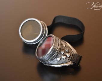 Silver steampunk goggles | Cosplay goggles | Steampunk | Cosplay