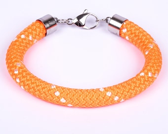 Climbing rope bracelet purple stainless steel magnetic clasp