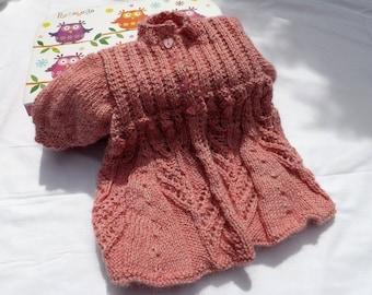 Tip Toe Through The Tulips Baby's Coat - Hand Made - Newborn