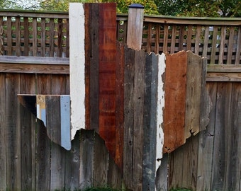 Texas Reclaimed Wood State Outline Wall Art - Large