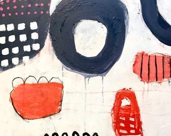 Original Abstract Art on canvas, home decor, wall art
