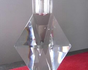 Art Deco candle holder. Baccarat crystal. 1910 - 1920