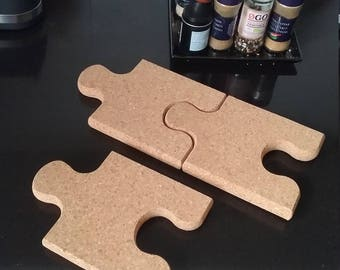 Puzzle piece made of cork - Create your own cork bulletin board 2pc.