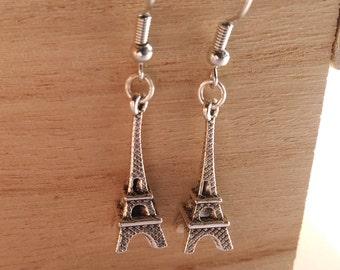 Eiffel Tower Earrings/ Silver Eiffel Tower Earrings
