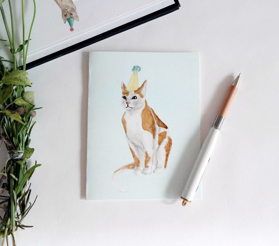 Greeting Card: Party Cat II