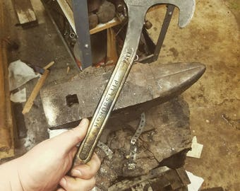 Handforged Wrench Tomahawk