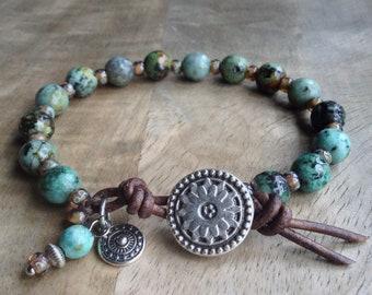 Bohemian bracelet boho chic bracelet womens jewelry bracelet gift for her boho chic jewelry rustic bracelets boho bracelet beaded bracelet
