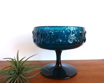 Mid Century Stelvia Compote Bowl by Wayne Husted Italy Empoli