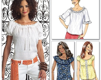 Butterick Pattern B4685 Misses' Gathered Raglan Sleeve Tops