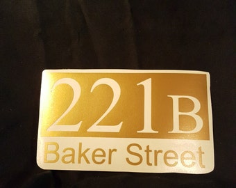 221B Sherlock Decal!