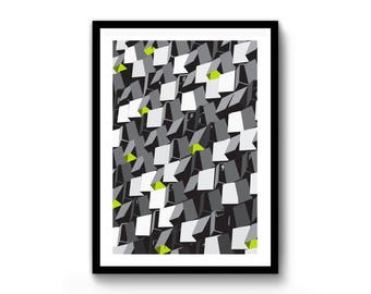 Sheffield / Cheese Grater / Abstract / Print / A4 / A3 / Wall Art