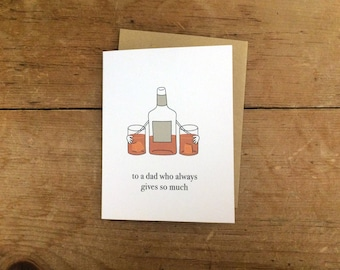 Whiskey/Scotch/Bourbon/Cognac Lover Father's Day Card