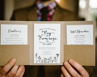 Rustic wedding invitation, Rustic wedding, pocket fold invitation, pocketfold, rustic pocketfold, rustic wedding stationery, save the date