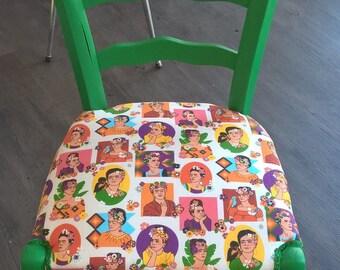 """Chaise coloré """"Frida Kahlo"""""""