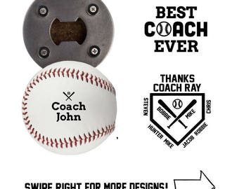 Baseball Coach | Bottle Opener made from a REAL Leather Baseball | Coach Gifts For Men | Coach Gift Ideas | Coach Thank You | Softball Gift