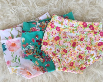 Floral Baby Shorties - Floral Toddler Shorties - Floral Baby Shorts - Floral Baby Clothes - Floral Toddler Clothes - Toddler Summer Clothes
