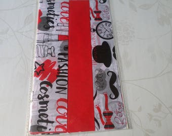 x 3 large sheet of paper decopatch 60 x 40 cm red/black/white