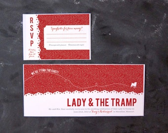 Lady and the Tramp - Invitations and RSVPs