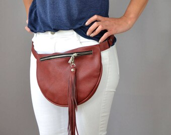 LARGE FANNY PACK, Leather Fanny Pack, Fanny Pack Leather, Hip Bag, Leather Pouch, Belt bag, Fanny Pack, Leather Woman Bag  N06