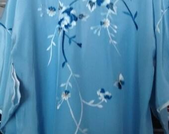 Vintage Embroidered Silk Kimono