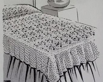 Crocheted Coverlet PDF Pattern 756