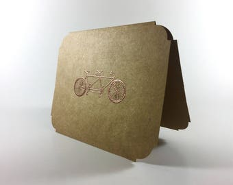 Bronze Bicycle Card