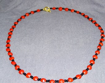 Red Sandalwood  Natural Seed Beads Necklace
