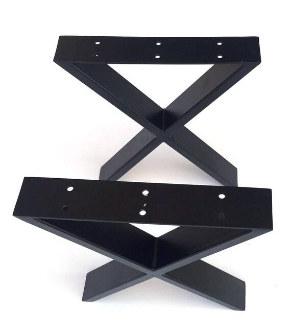 Black Steel Coffee Table Legs: 16 Heavy Duty Modern Black X Furniture Leg Coffee Table
