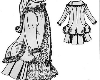 Circa 1883 Jacket Dress Pattern