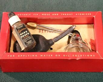 1930's Vintage DeVilbiss Atomizer No. 15 Adjustable Tip, Nose, & Throat Antique