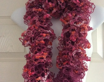 Beautiful hand knitted lacy scarf