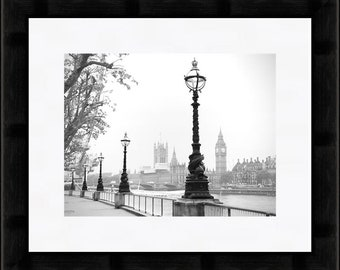 London Print, Big Ben, Houses of Parliament, Black and White Fine Art Photography, London Art, Travel Photography, London Photography