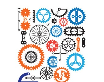 GEARS CUT FILES. Svg, eps, dxf, png files. Silhouette cut files, Cricut cut files, Silhouette designs, Cricut Designs, cut files png file