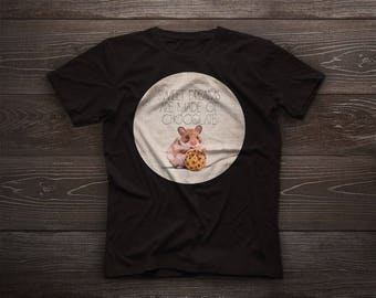 Crazy for chocolate, cute mouse tshirt, kids, pet, boy, girl, gift, colorful, brown, chocolate, choco, cocoa, kitchen, biscuit, biscuits