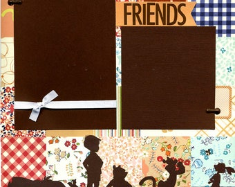 Best of Friends - 12x12 Premade Scrapbook Page
