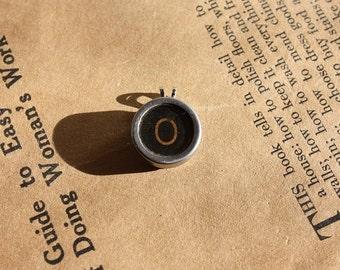 Vintage Typewriter Key Letter O pendant
