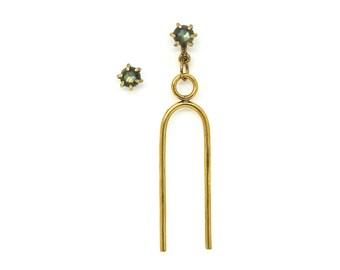 Vibration Earring Set // Labradorite