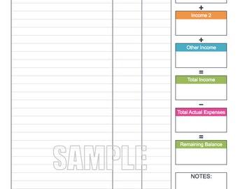 personal expenses worksheet