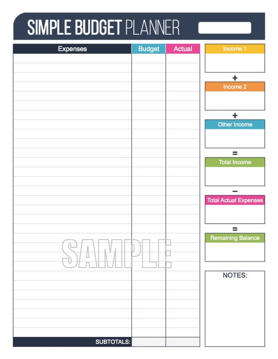 simple printable budget worksheet koni polycode co