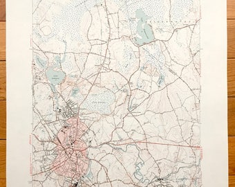 Taunton map Etsy